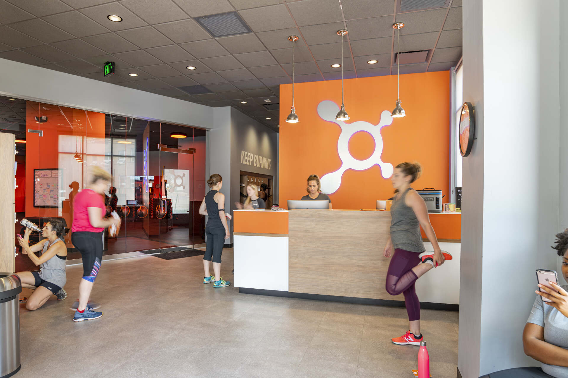 Orange Theory Internal Lobby