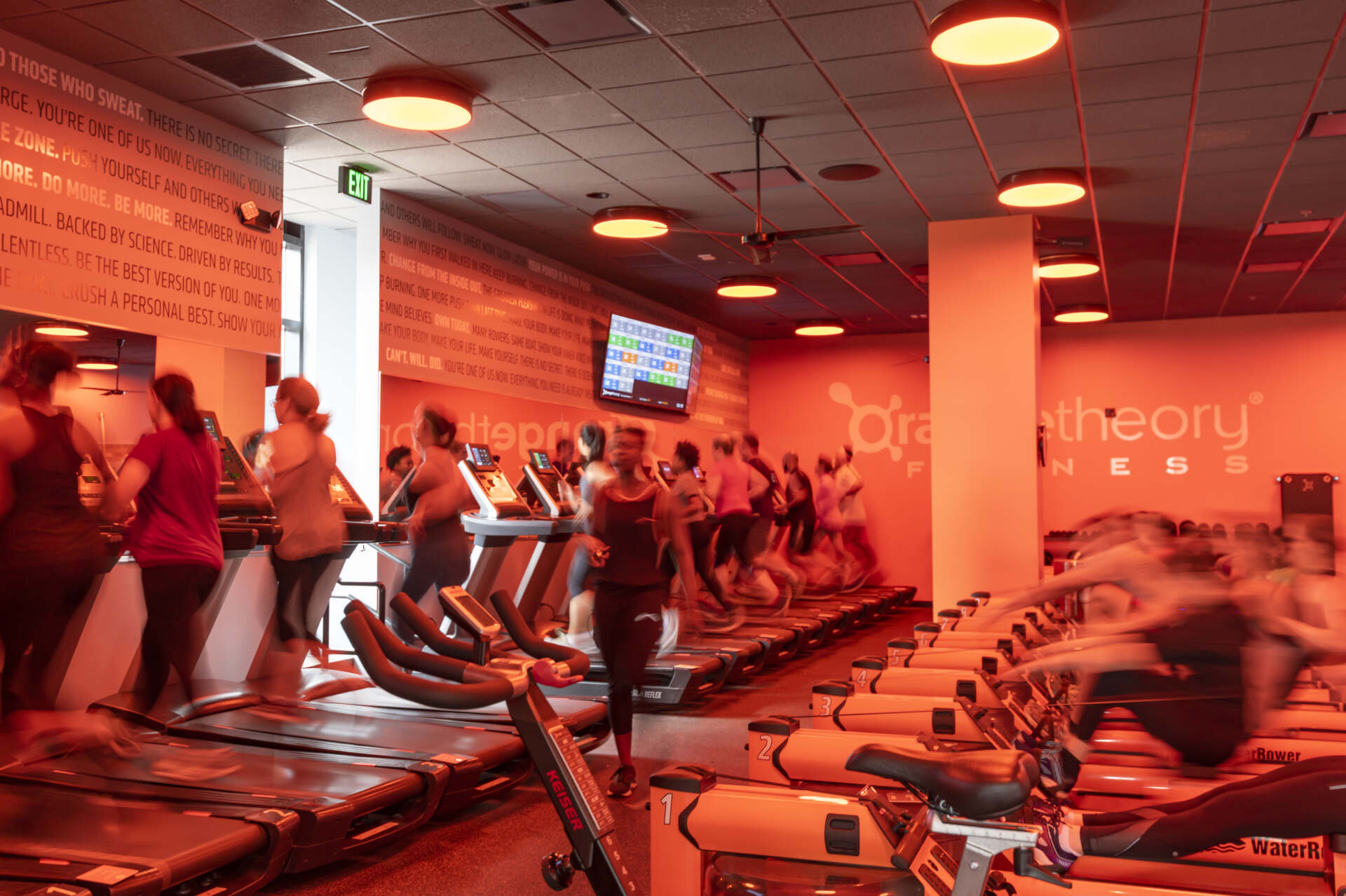 Orange Theory Workout space